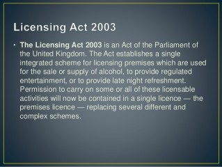 Westminster Licensing Review
